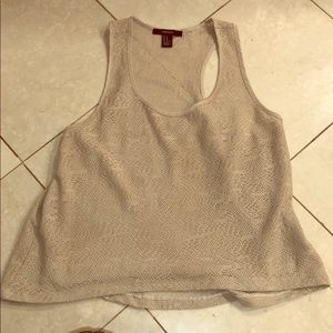 Forever 21 Lacey beige tank top worn once